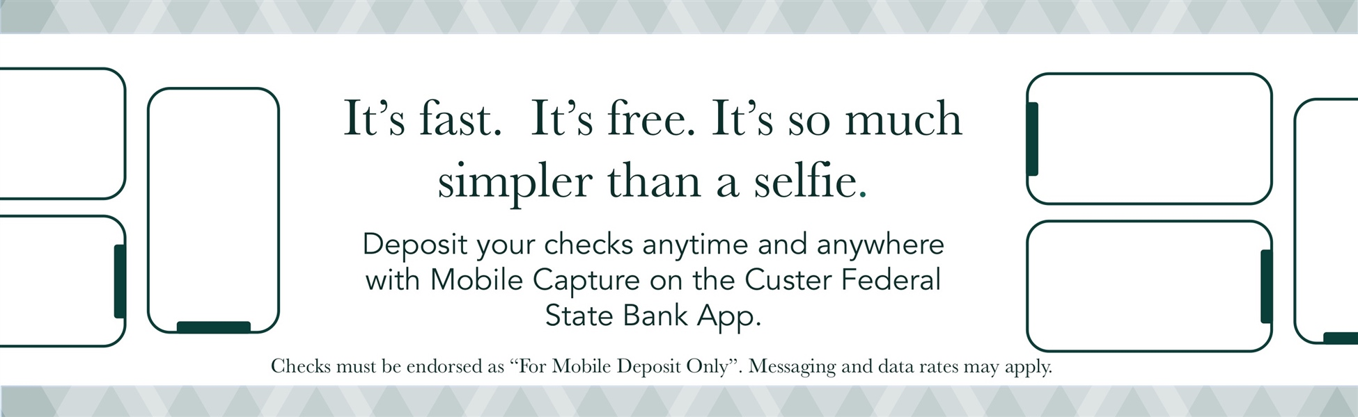 Mobile Deposit through the Custer Federal State Bank app